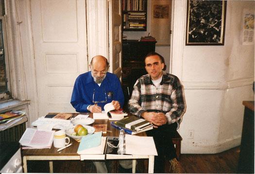Алън Гинзбърг и Владимир Левчев, 1994 г.