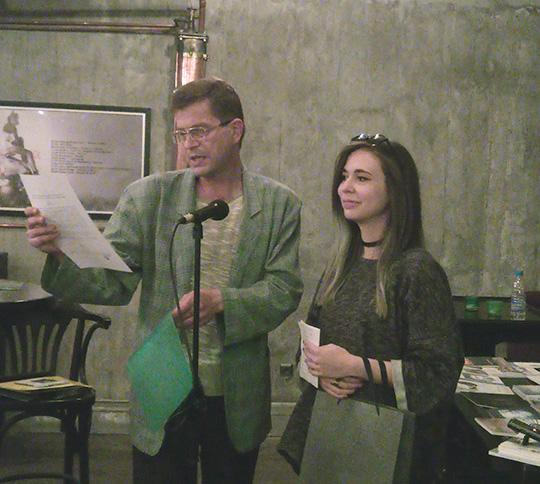 Антонина Георгиева по време на лауреатската вечер