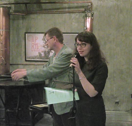 Теодора Лалова по време на лауреатската вечер