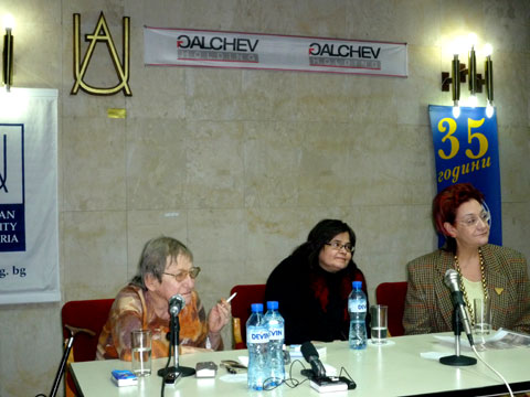 От ляво на дясно - Вера Мутафчиева, Албена Хранова, Евелина Келбечева